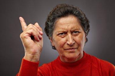 Angry senior lady