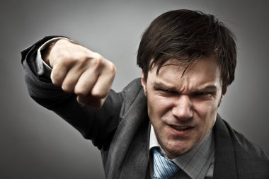 Aggressive businessman