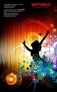 Party event illustration with abstract background