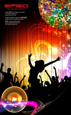 Party event illustration with dancing