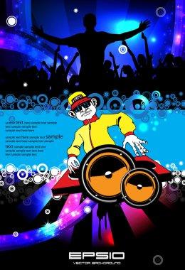 Music event background. Vector eps10 illustration.