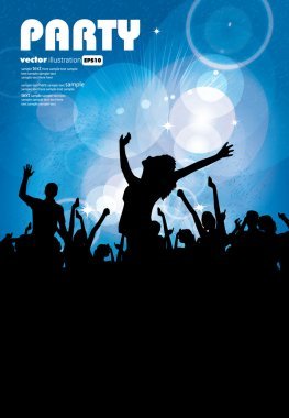 Vector illustration of music background party
