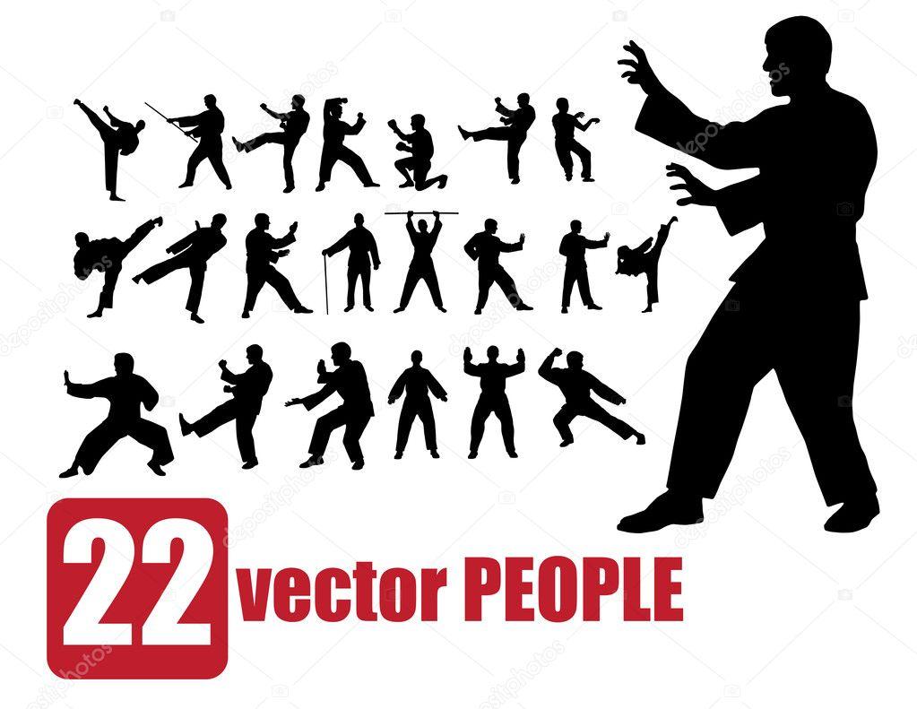 Warrior. Vector illustration.