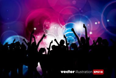 Music event background. Vector illustration.