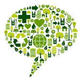 Photo Bubble dialogue with environmental icons
