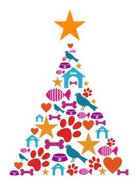 Pet cate Christmas tree