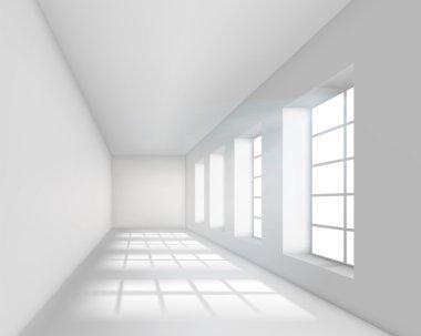 Empty white interior.
