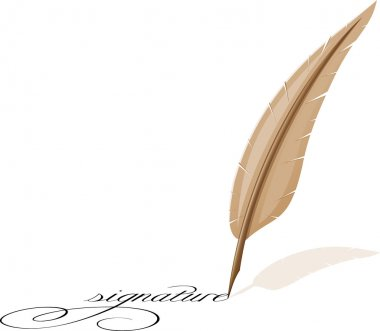 Feather and signature