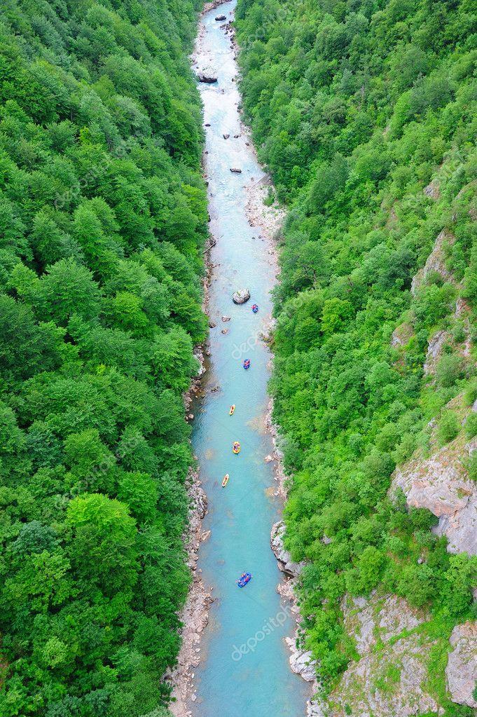 Rafting on the river Tara in Montenegro