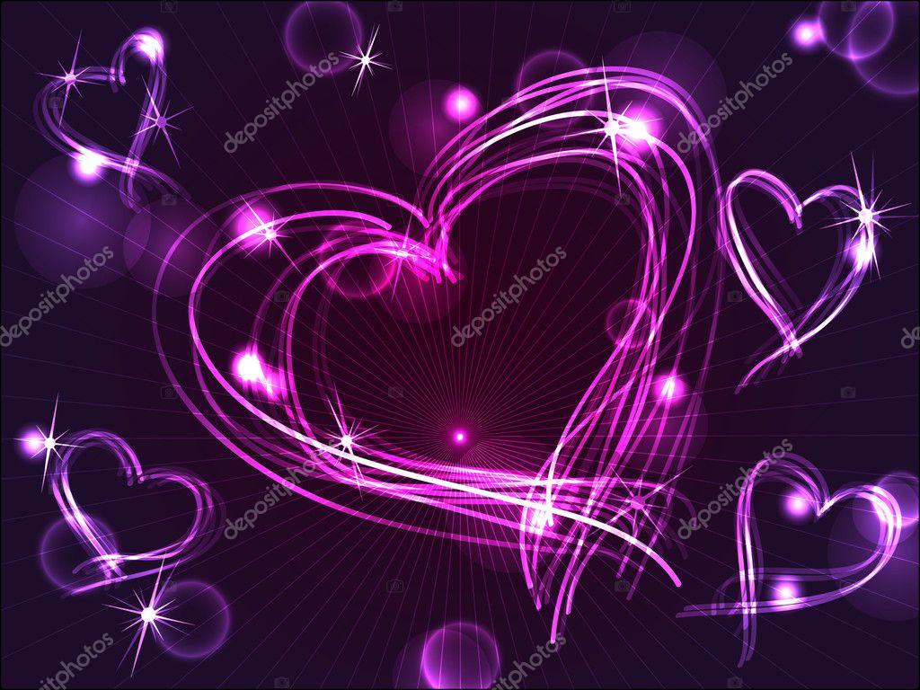 depositphotos 6940971 stock illustration neon or plasma purple hearts