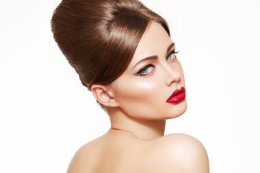 Beautiful portrait of sensual european young woman model