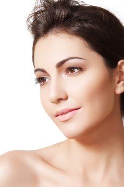 Beauty, wellness, cosmetics, spa, healthcare and skincare. Beautiful woman