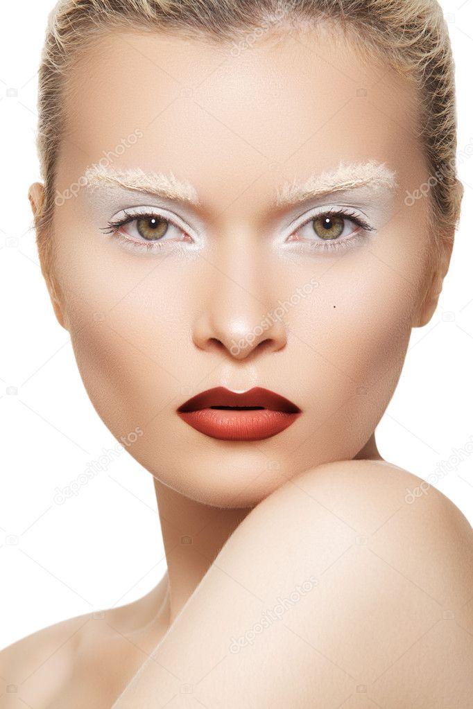 High fashion image. Fashionable style of beautiful model