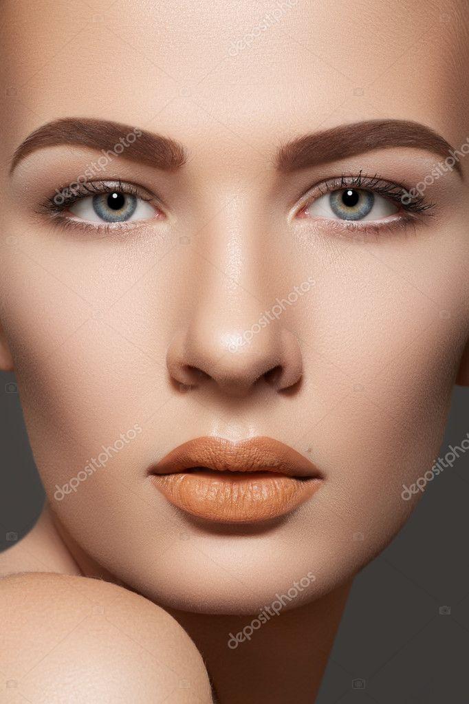 Spa, skincare, wellness & health. Close-up portrait of beautiful female