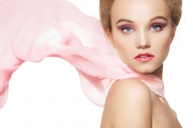 Beauty, make-up & accessories. Beautiful romantic style of pretty girl