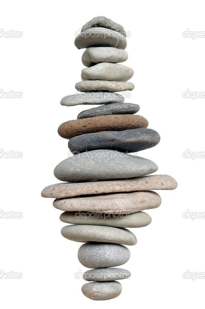 Pyramid with stones