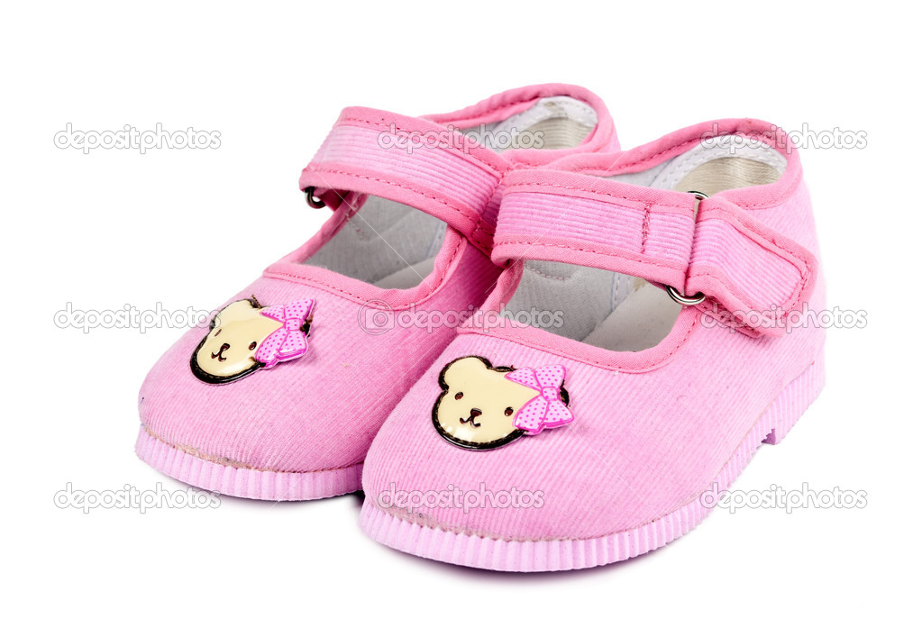 new concept c7110 38d86 Ein paar Babyschuhe Rosa — Stockfoto © Ruslan #6840633
