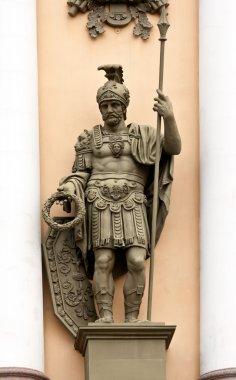 Sculpture war with a spear