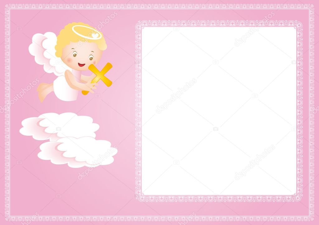 Baptism frame — Stock Vector © justaa #6958175