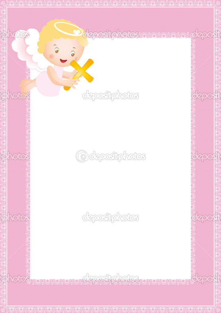 Baptism frame — Stock Vector © justaa #6958233