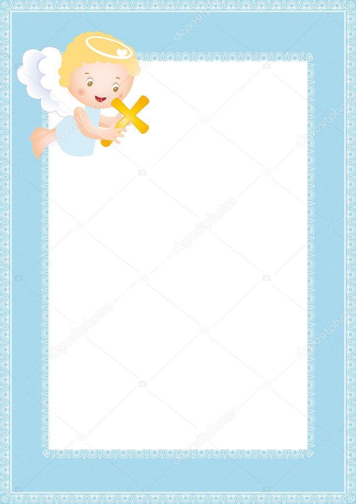 marco de bautismo — Archivo Imágenes Vectoriales © justaa #6958244