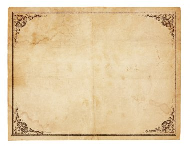 Blank Vintage Paper With Antique border