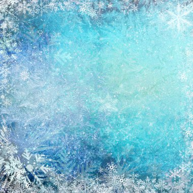 Blue Christmas grunge texture background