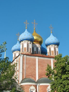 Golden domes of the Ryazan Kremlin