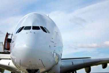 Passenger aircraft A 380, front view