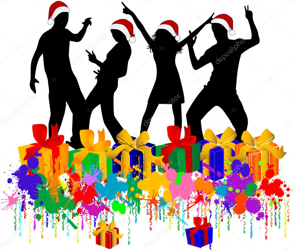 Áˆ Christmas Party Clip Art Stock Images Royalty Free Christmas Party Women Cliparts Download On Depositphotos