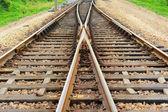 Fotografie Rail Road Tracks - elektrisch. Blick auf die Bahngleise