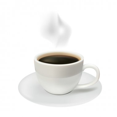 Coffee cup from coffee on a white background clip art vector
