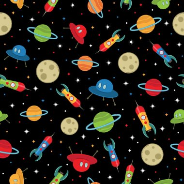 Space ships pattern