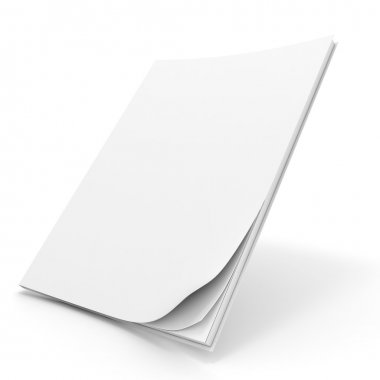 3d book with blank cover