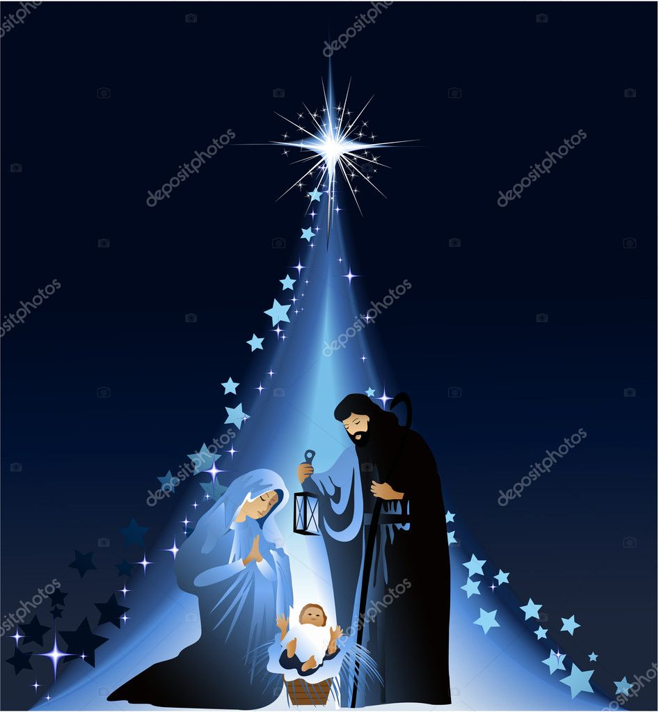 Nativity scene with baby Jesus clipart. Commercial use GIF, JPG, EPS, SVG  clipart # 143881   Graphics Factory