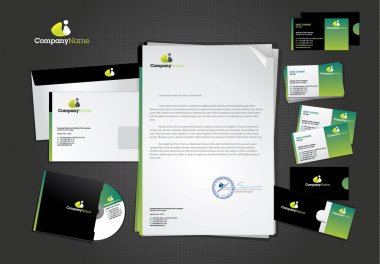 Stationary and icon design template