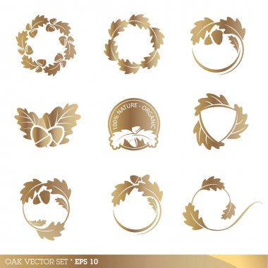 Collection of icon design elements stock vector