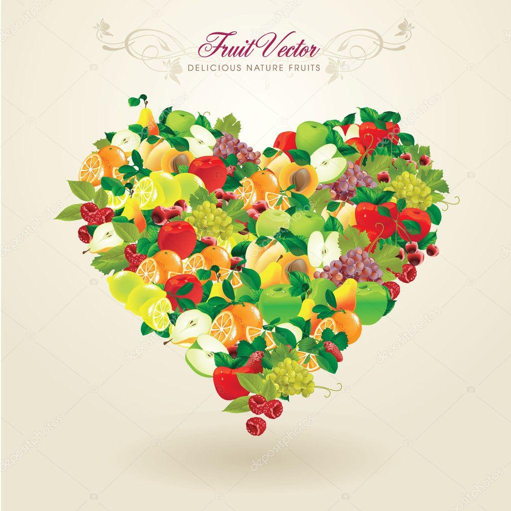 Delicious natural fruits