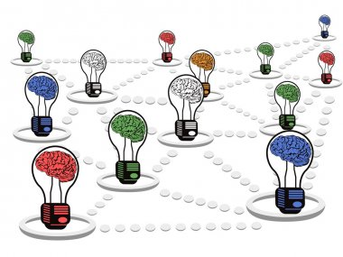 Brain light bulb net work