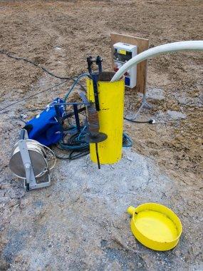 Testing hydrology borehole
