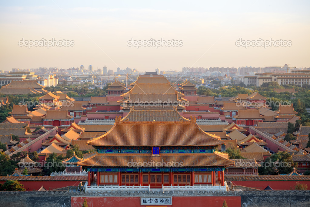 Beijing forbidden city at dusk