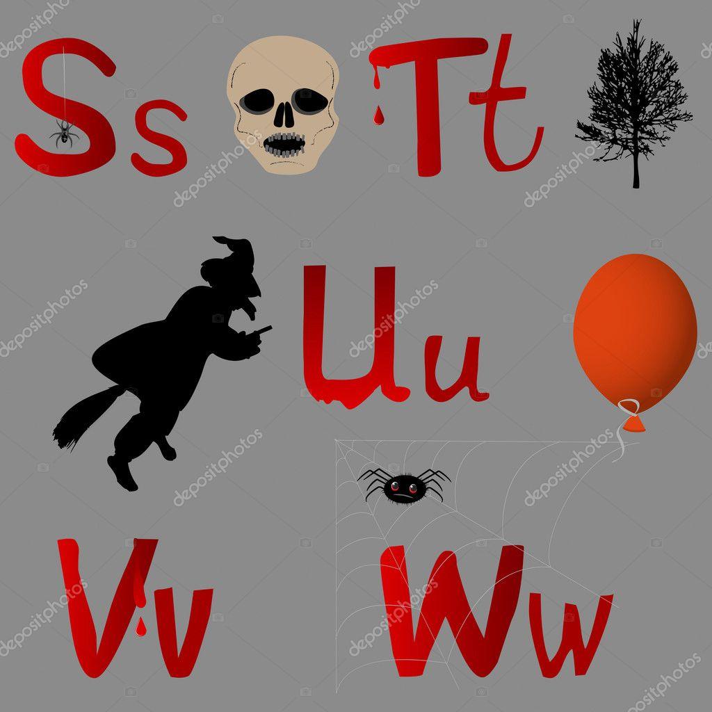 Halloween Alphabet.