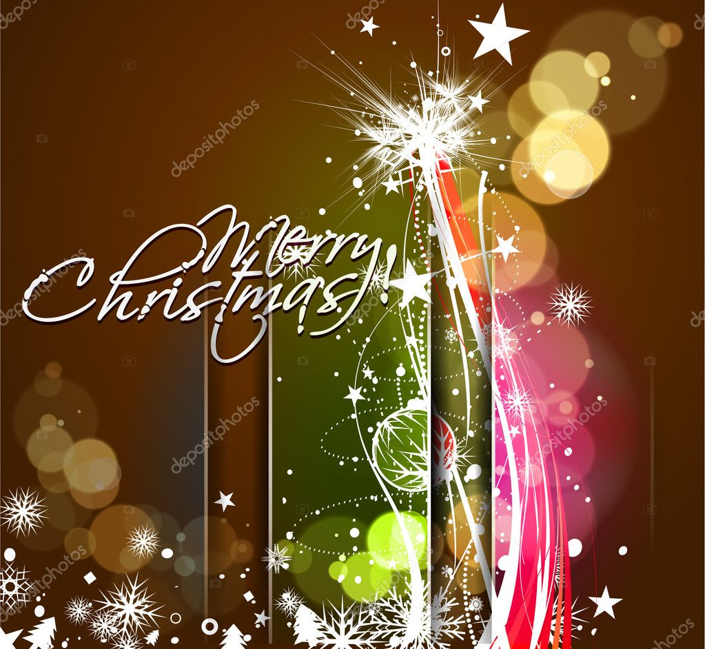 New year and christmas colorful design