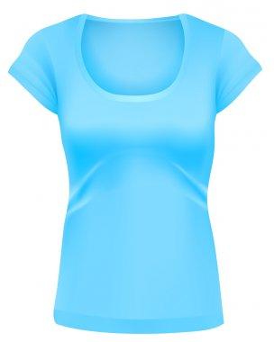 Woman blue t-shirt template