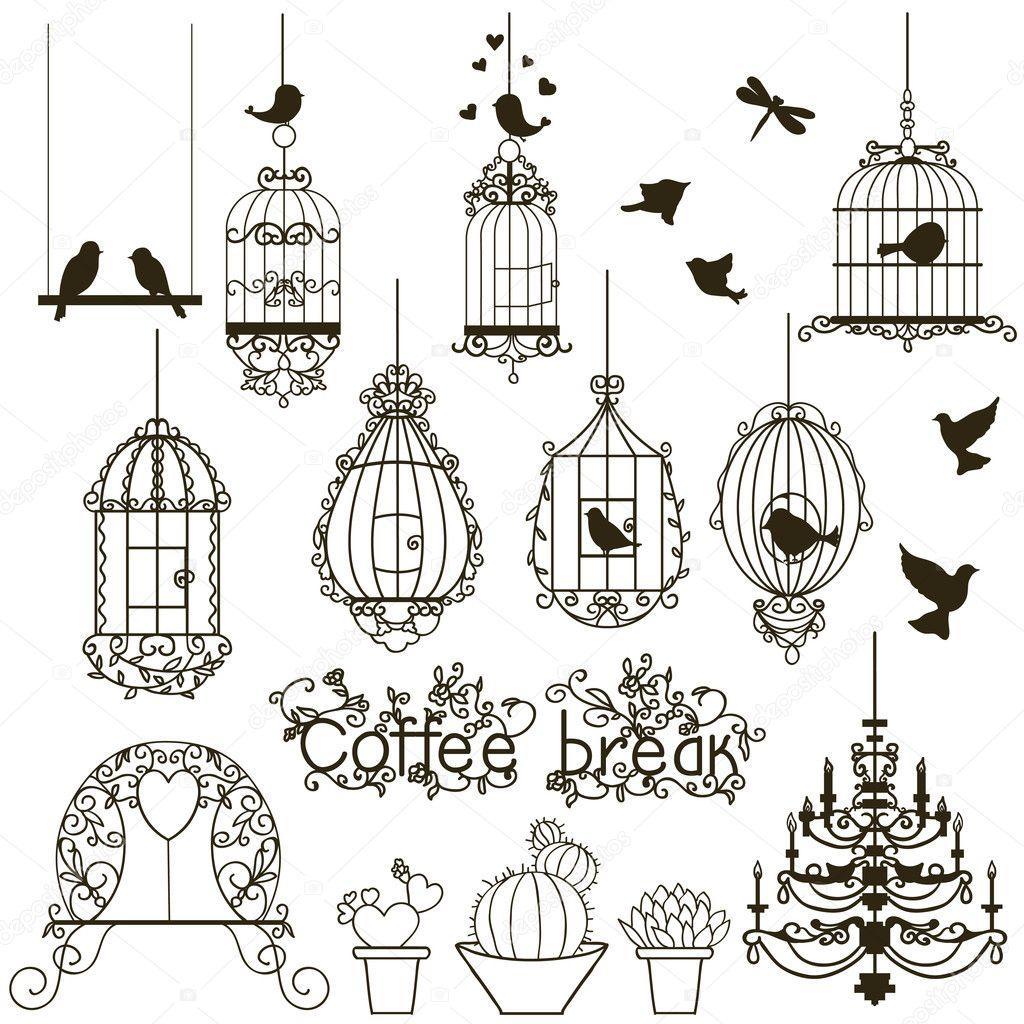 Birdcage set.