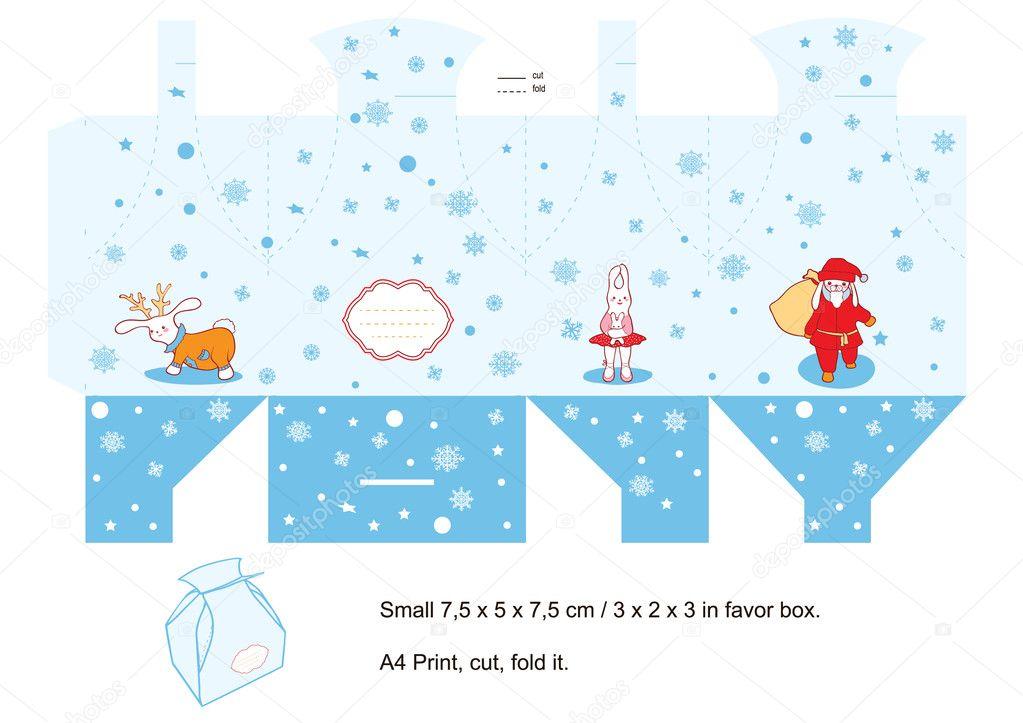 Christmas Gift Box Template Stock Vector C Yaskii 7274781