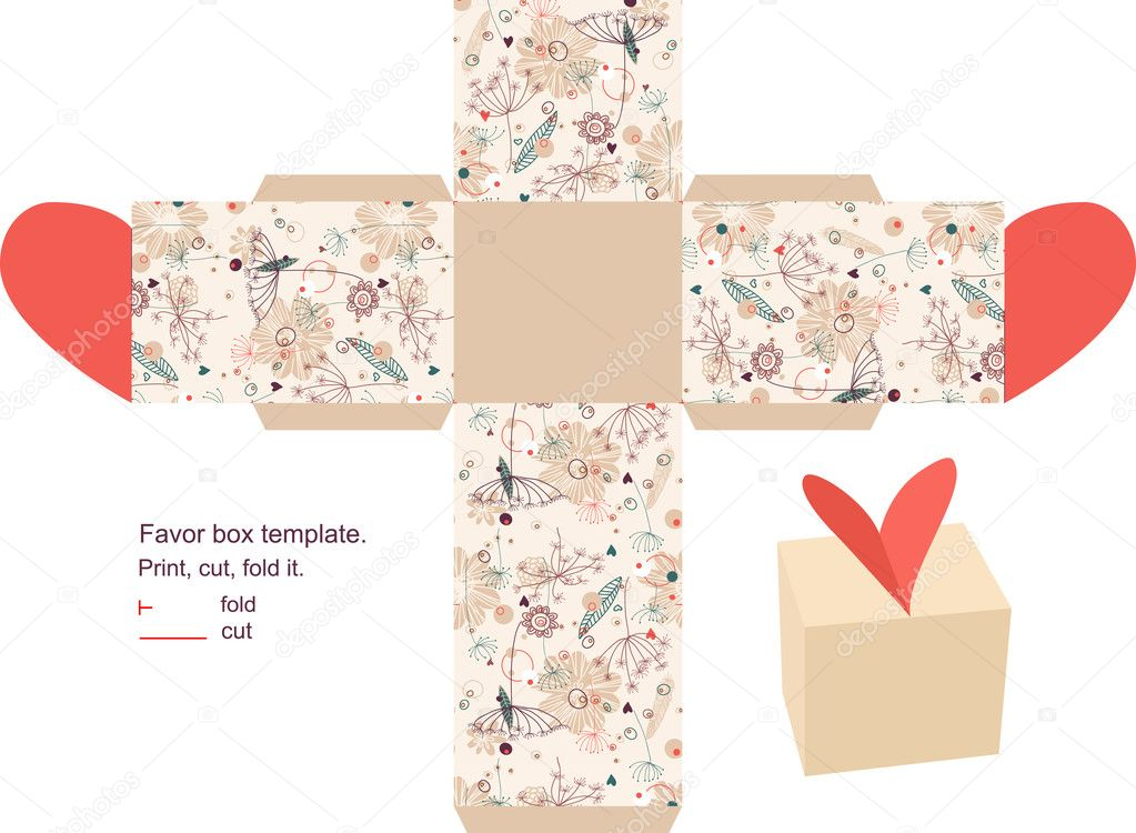 Gift box template Vector yaskii 7613943 – Template for Gift Boxes