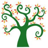 absztrakt színes fa