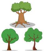 Set Of Cartoon Tree