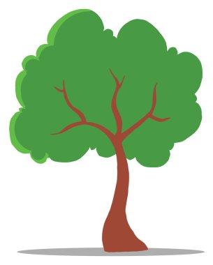Green Tree Cartoon Illustration stock vector